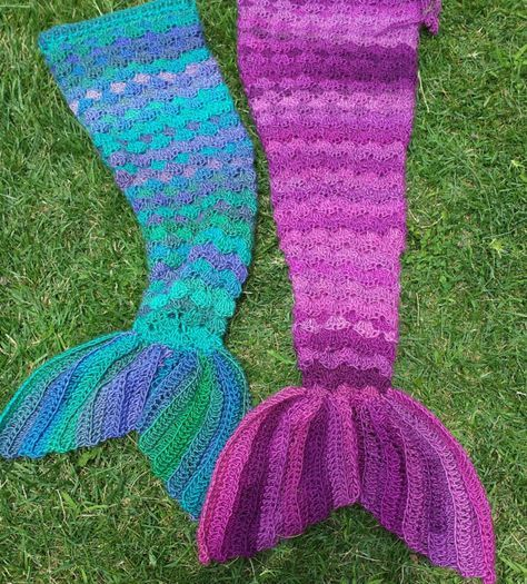 Mermaid Crochet Tail Blanket Patterns Free Video Tutorial Afghan crochet, P...
