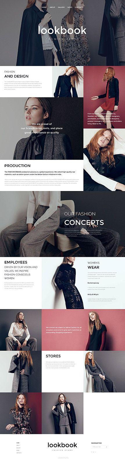 Template 57578 - Lookbook Fashion  Responsive Website Template