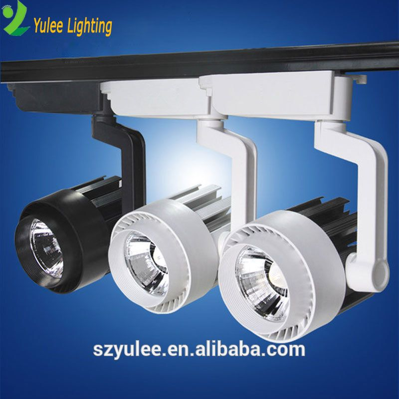 Modern Adjustable Magnetic Aluminium Housing Dimmable Rail Cob 20w 40w 30w Led Track Light Lamps Fixtures Track Lighting Yulee