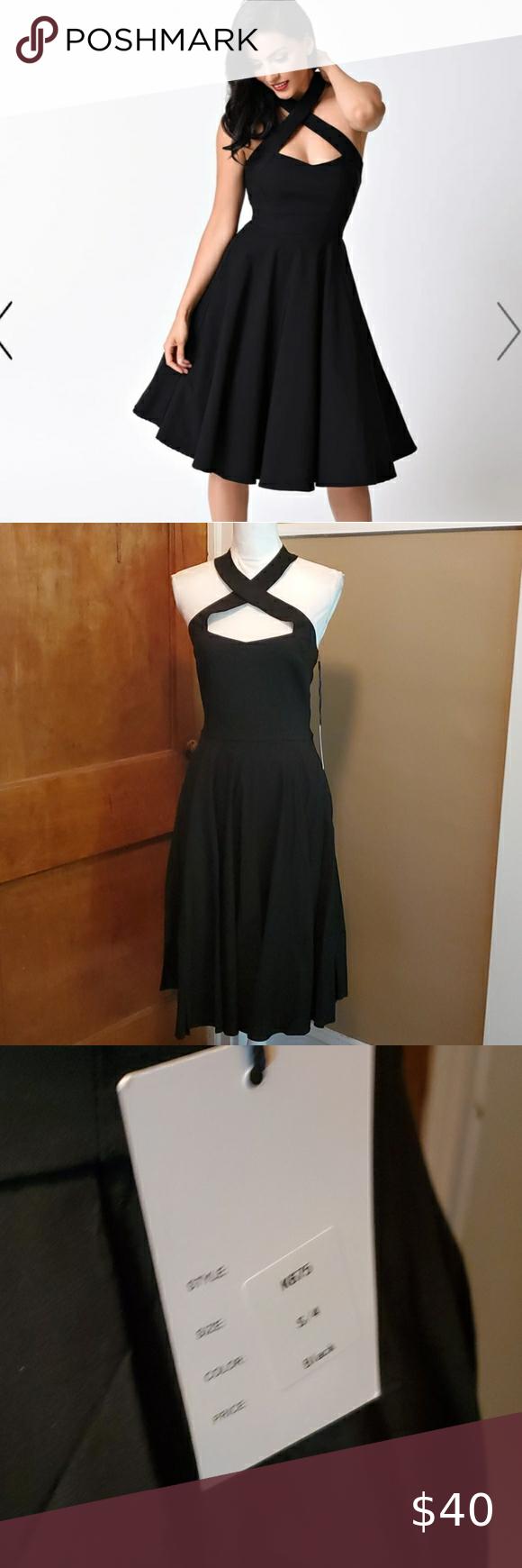 Unique Vintage Black Bengaline Rita Swing Dress Unique Vintage Dresses Dresses Swing Dress [ 1740 x 580 Pixel ]