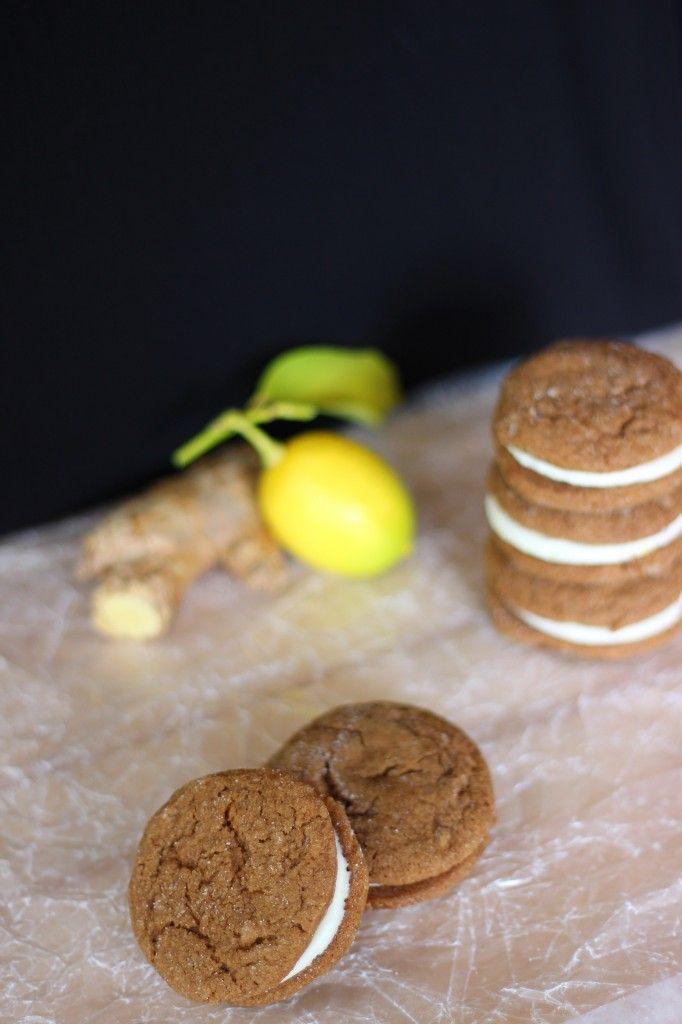 Ginger Lemon Sandwich Cookies | Sweet cookies, Cookies