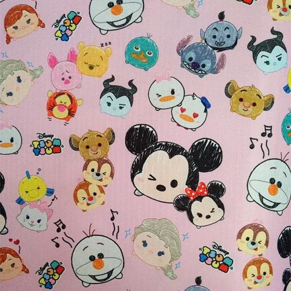 Pink Tsum Tsum Waterproof Fabric