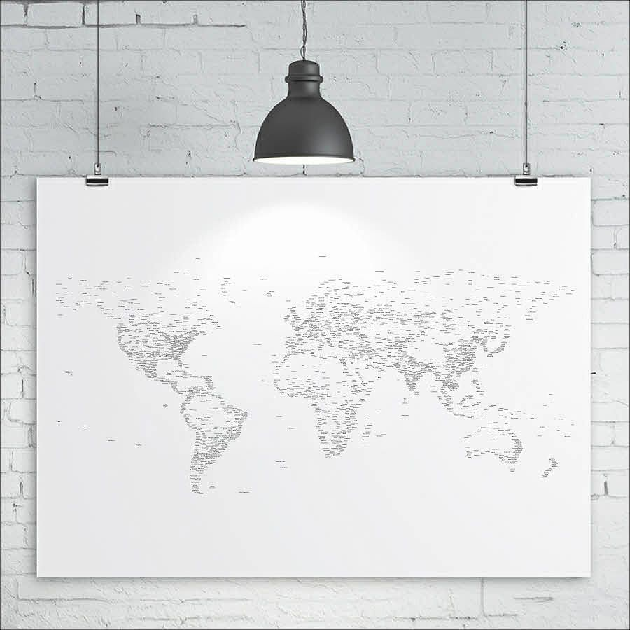 Typography world map print typography and printing world map print typography words text map of the world map art print size x approx by kiacoltd on etsy gumiabroncs Image collections
