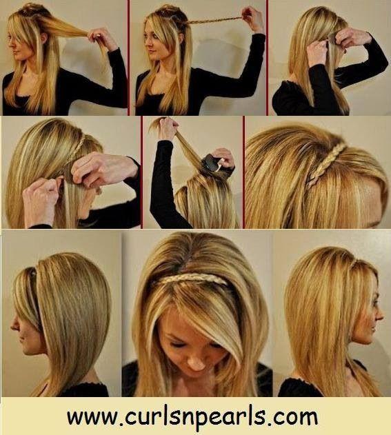 Thin braided headband