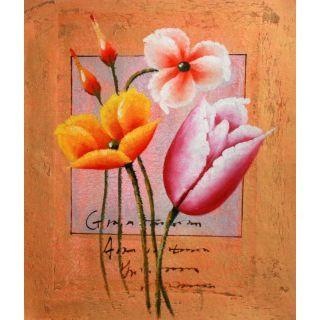 Real Handmade Flower Oil painting