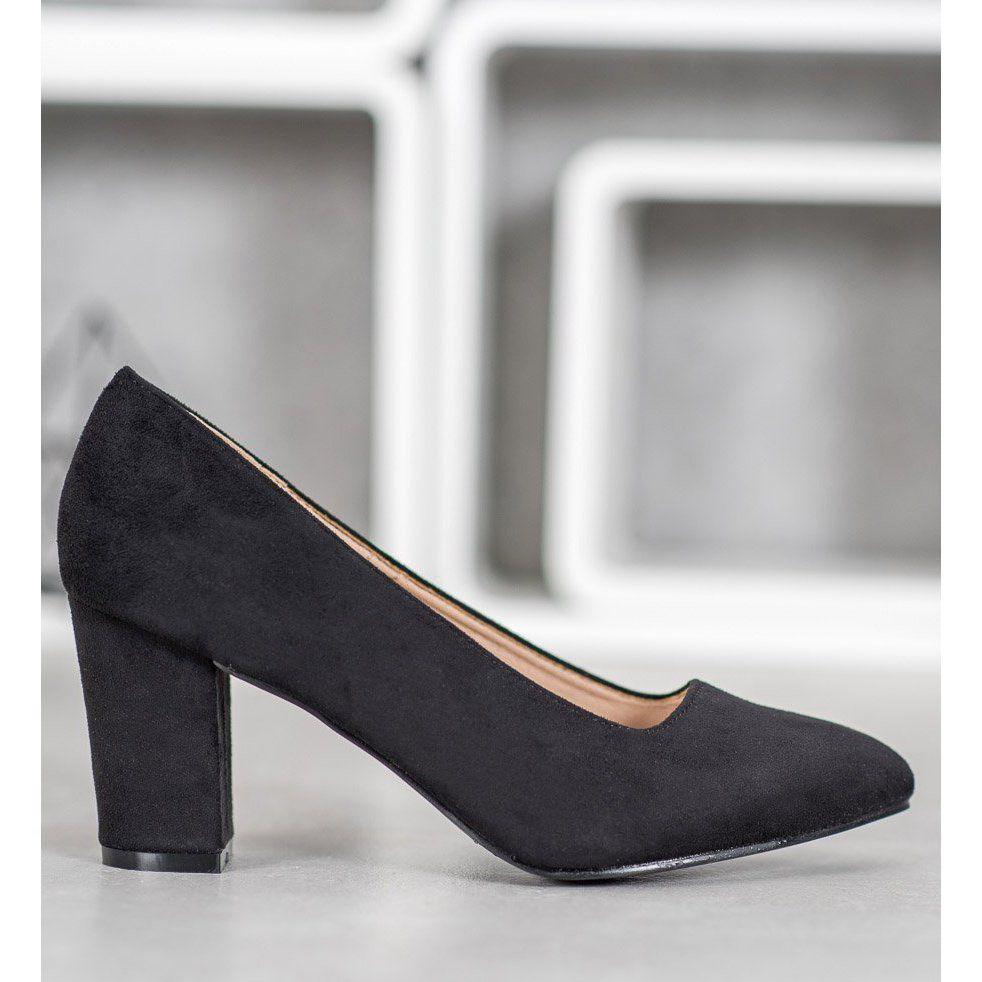 Czarne Czolenka Vinceza Heels Pumps Shoes