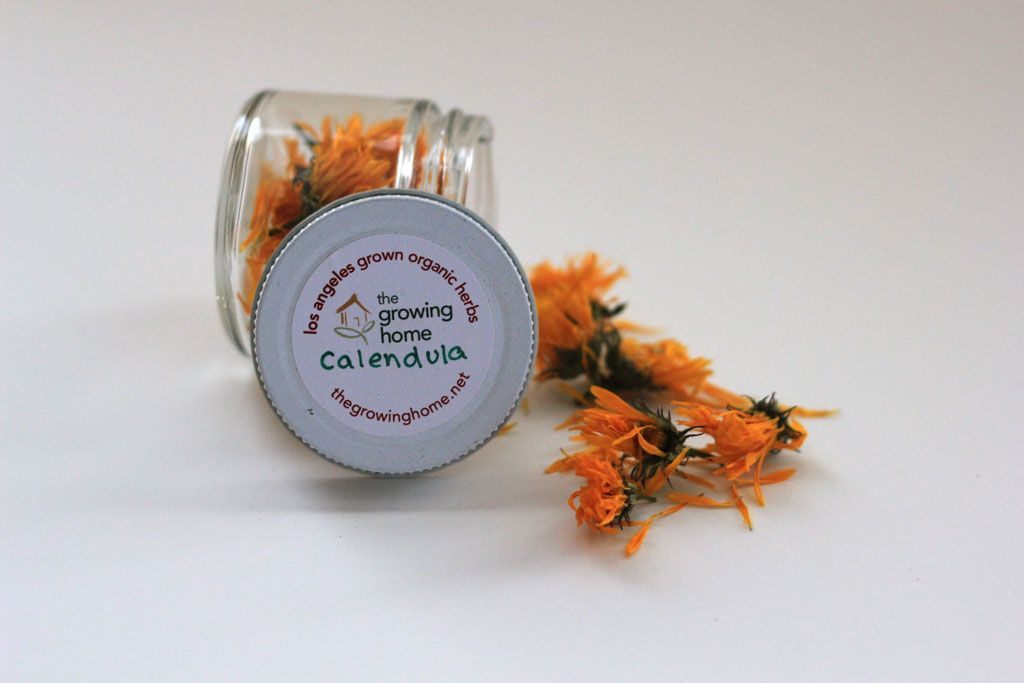 Organic calendula 2oz jar calendula organic grow organic