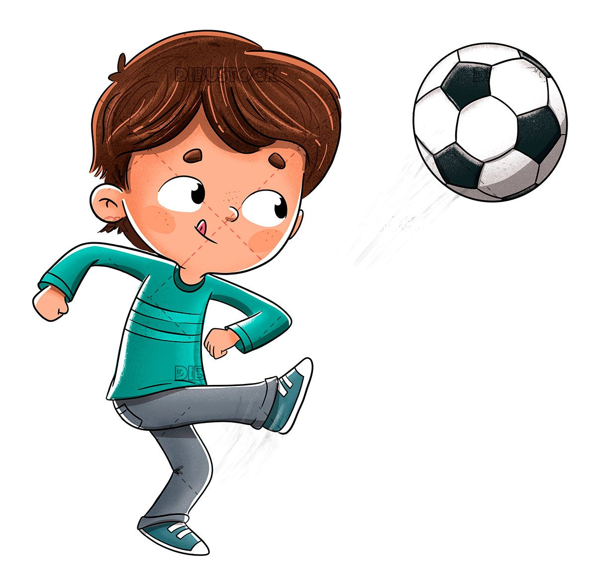 Boy Playing Soccer Throwing The Ball Soccer Drawing Boys Playing Football Drawing