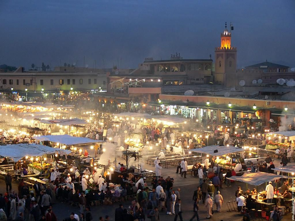 Marrakech, Morocco..the evening food market