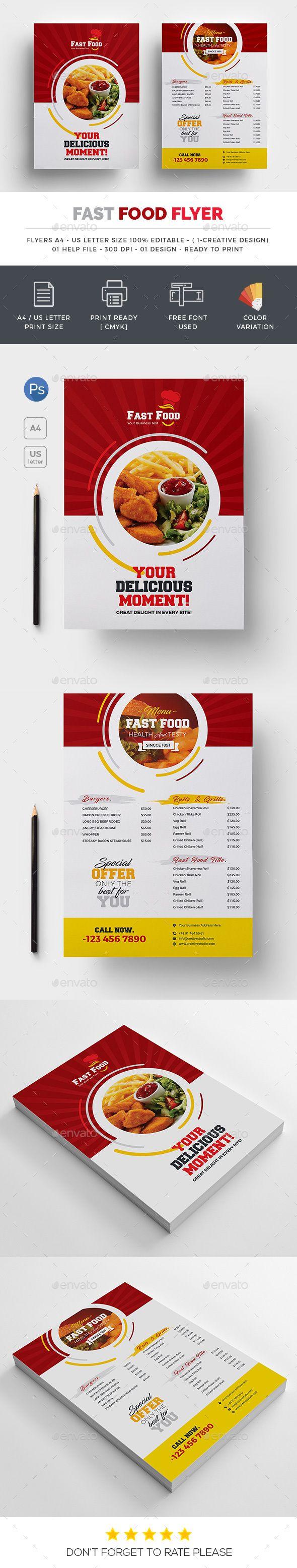 Fast food Both Side Flyer | Grafiken