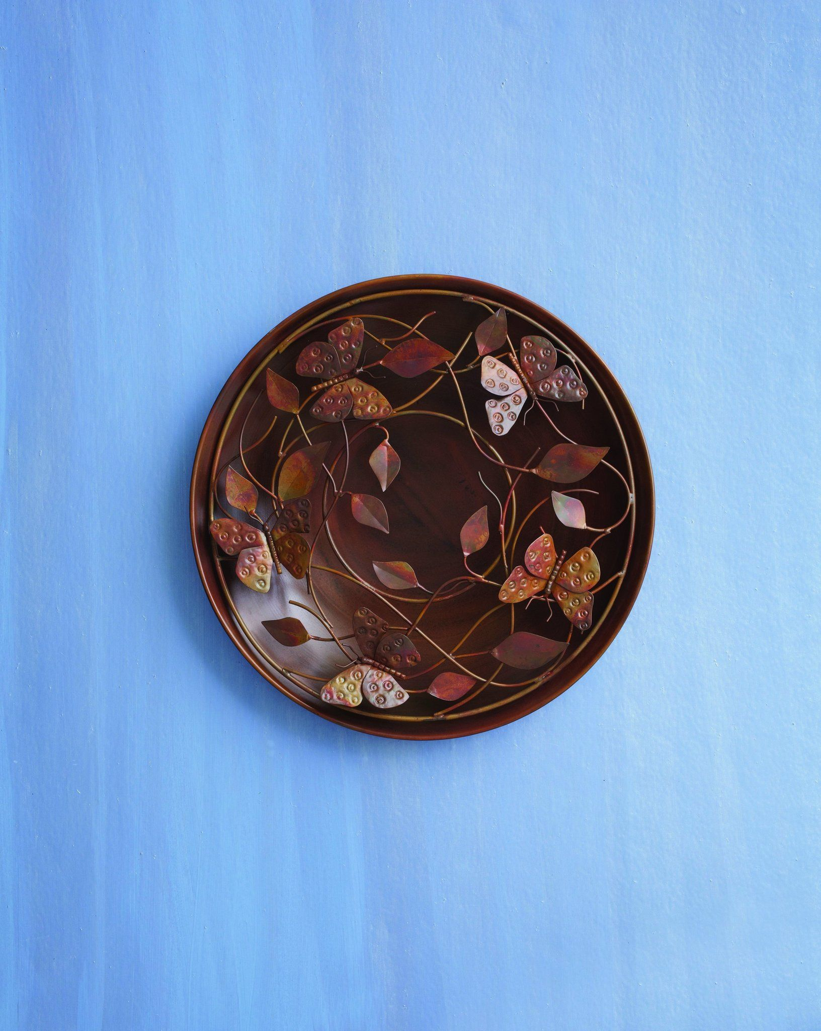Raised leaf and butterflies wall decor disc wall decor pinterest