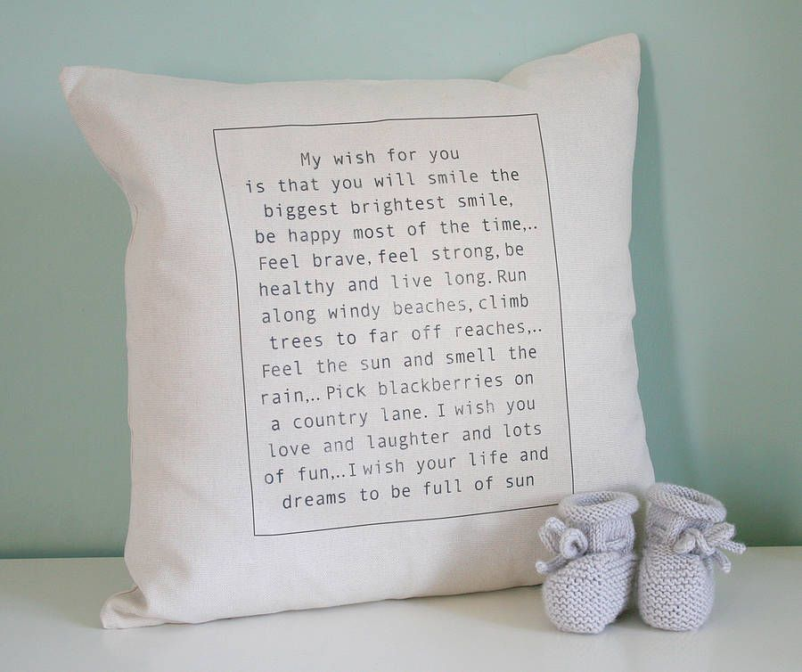 Personalised baby wish cushion personalised baby babies and nursery personalised baby wish cushion negle Choice Image
