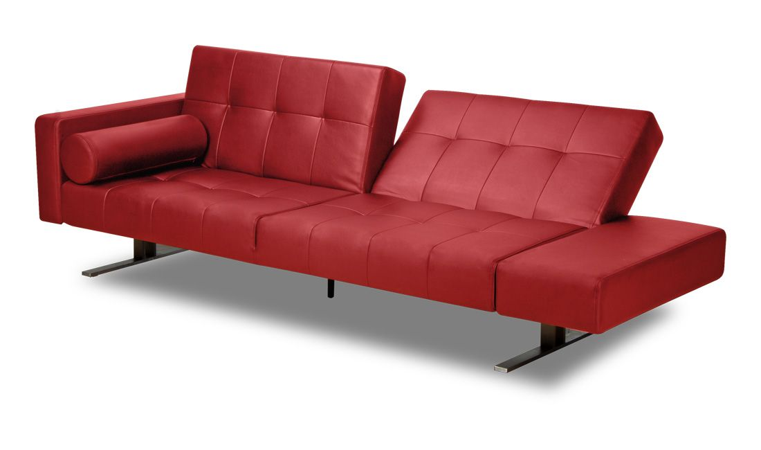 Leather Sofa | Marvelli Red Leather Couch | Furniture ...
