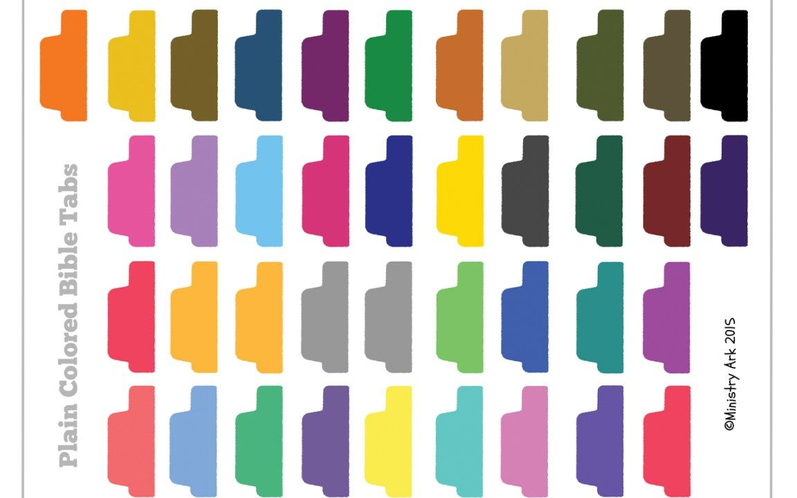 Plain Colored Bible Tabs Ministryark Bible Tabs Bible Journal Stickers Planner Tabs