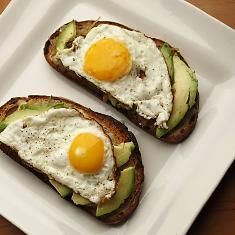 Open-face Egg Sandwiches With Caramelized Onions, Havarti Cheese & Avocado