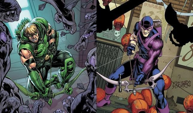 Image result for hawkeye vs green arrow