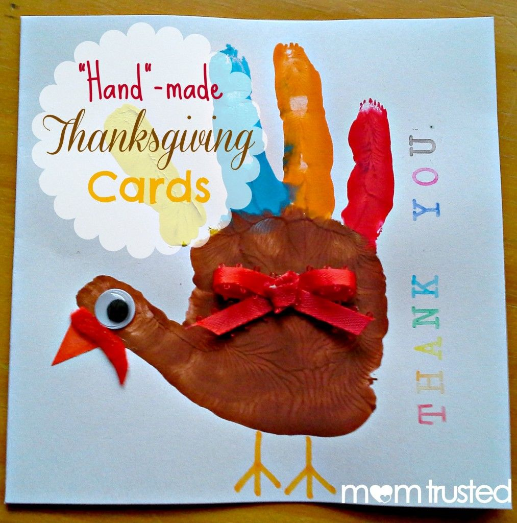 Superior Ideas For Thanksgiving Cards To Make Part - 7: My Post For Mom Trusted: Getting Your Kids Involved In Telling Your Loved  Ones How Thankful You Are For Them With This Adorable Handmade Thanksgiving  Cards ...