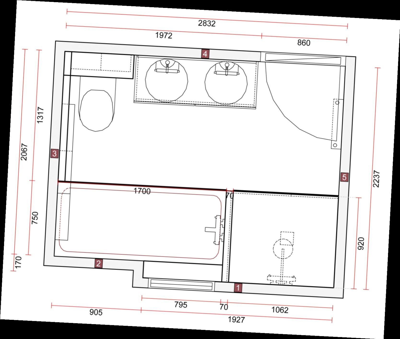 100 Remarquable Conseils Plan Salle De Bain 7M2
