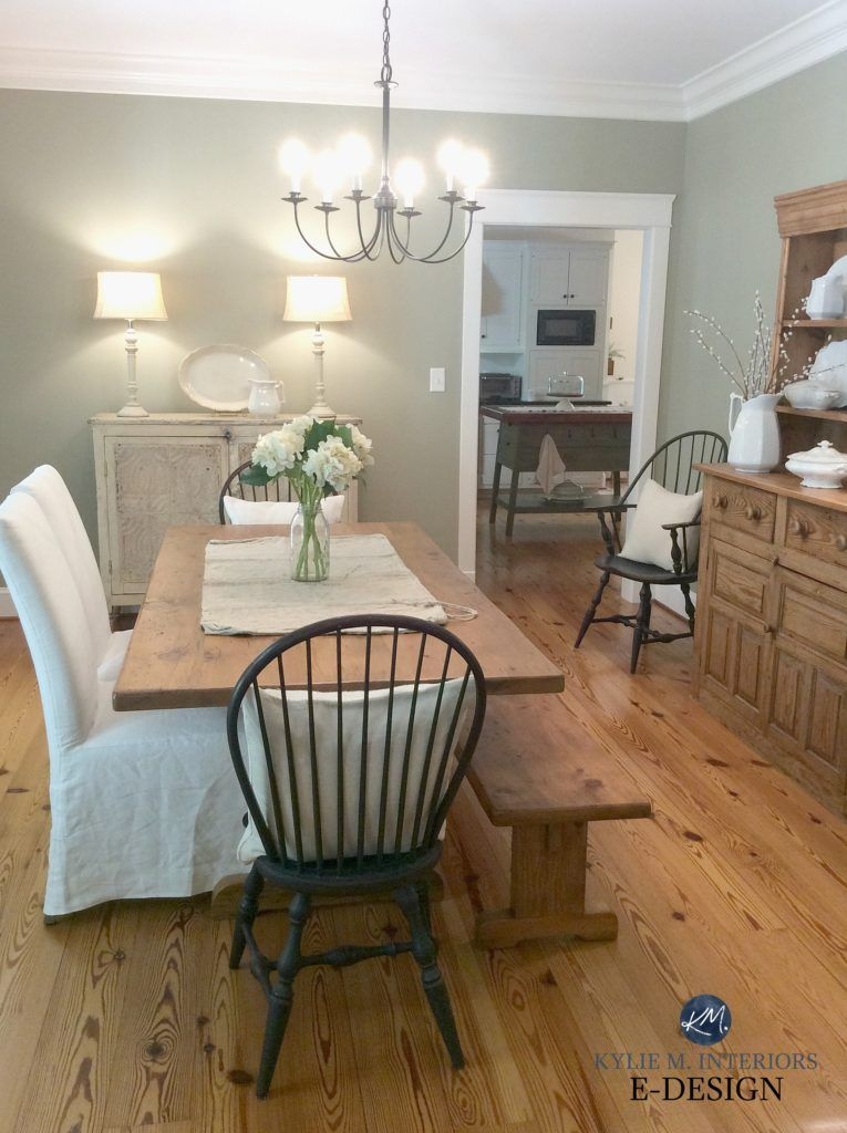 The 7 Best Benjamin Moore Green Paint Colours In 2020 Country Style Dining Room Dining Room Wall Color Green Dining Room