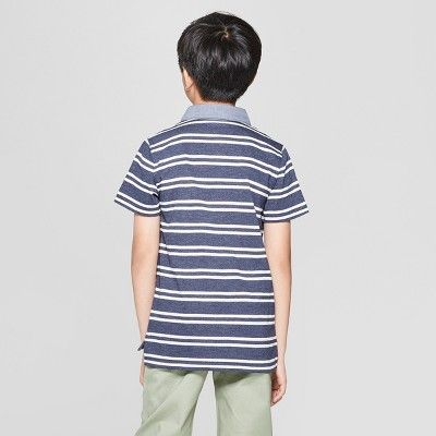 J By Jasper Conran Kids Boys/' Navy Striped Cotton Henley Top