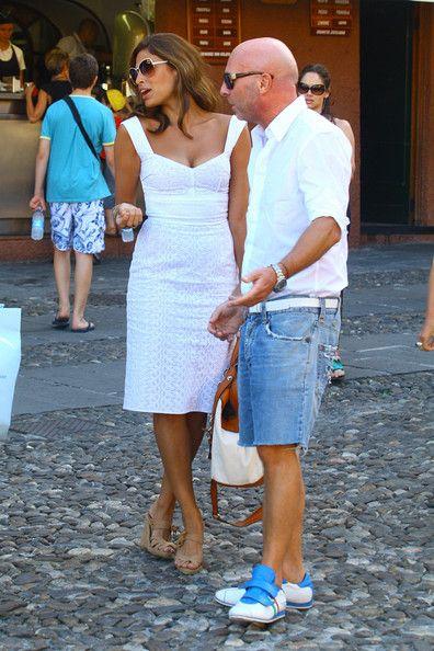 4e78c5e8884 Domenico Dolce in Eva Mendes And George Gargurevich Walking With Domenico  Dolce And Stefano Gabbana In Portofino, Italy