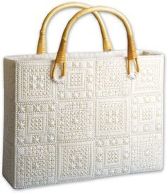 images of plastic canvas tote bag patterns | Aran Tote Bag Plastic ...