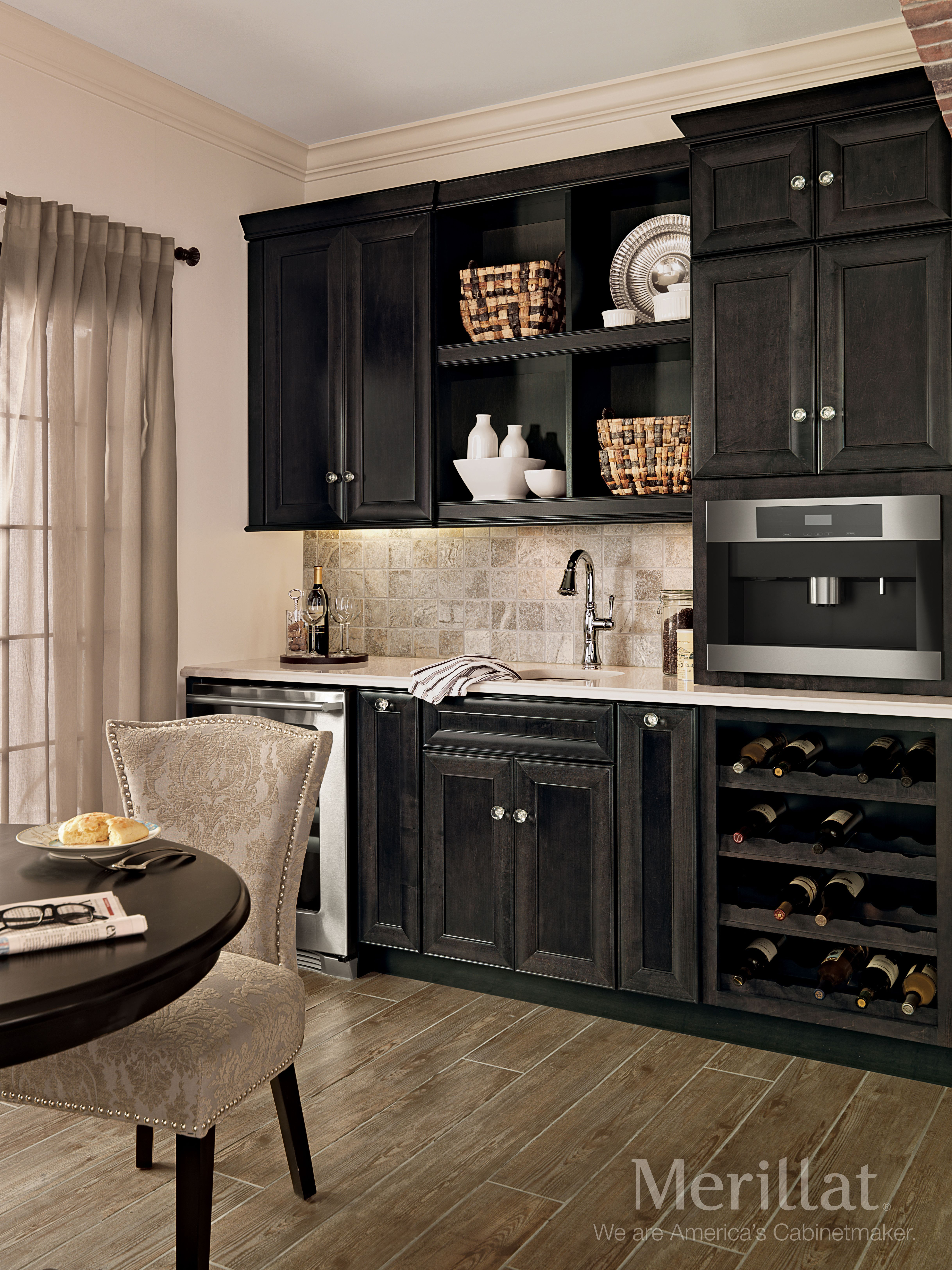 merillat classic bayville in maple dusk merillat cabinetry this coffee and wine - Merillat Classic Kitchen Cabinets