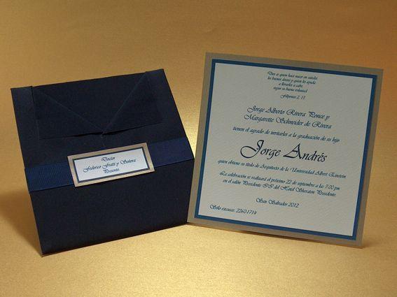 Diseño Sencillo Y Elegante Invitaciones Para Graduacion