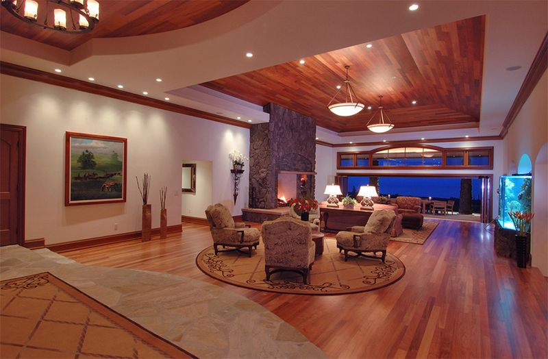 23 Living Rooms with Wooden Ceilings Exuding a Warm Aura Wooden