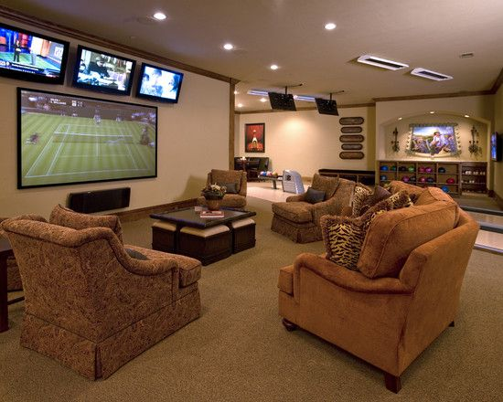 60 Basement Man Cave Design Ideas For Men Manly Home Interiors Basement Design Man Cave Design Modern Basement