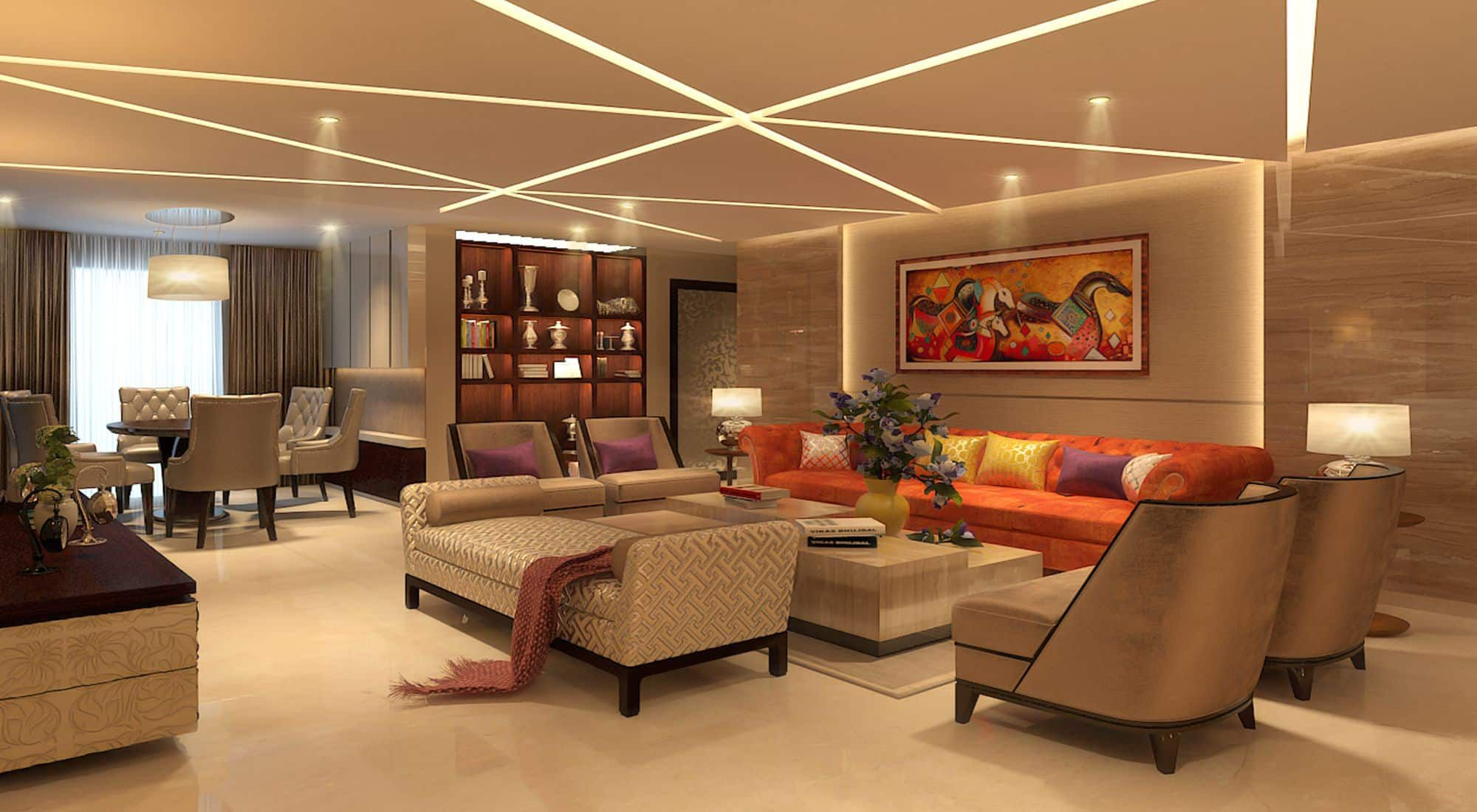 fedisa interior designer interior designer mumbai best online interior design websites 25 Lovely Interior Designers In Mumbai. Luxurious Living Room by SHROFFLEoN