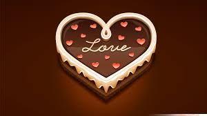 Love chocolate. Wallpaper.