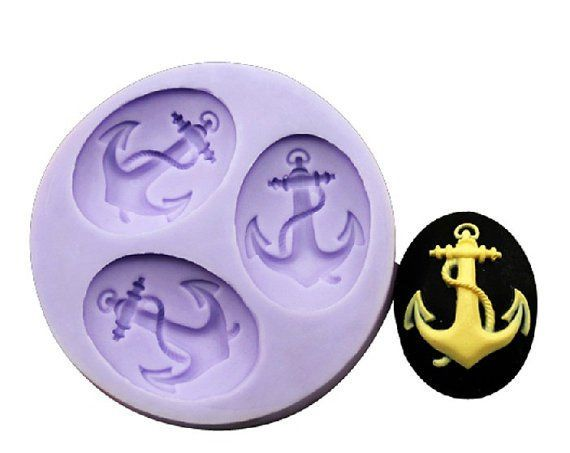 Anchor Silicone Resin Clay Molds Handmade Resin Mold Polymer Clay Mold