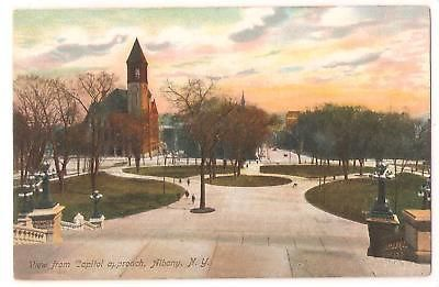 Postcard, View From Capitol approach, Albany, New York