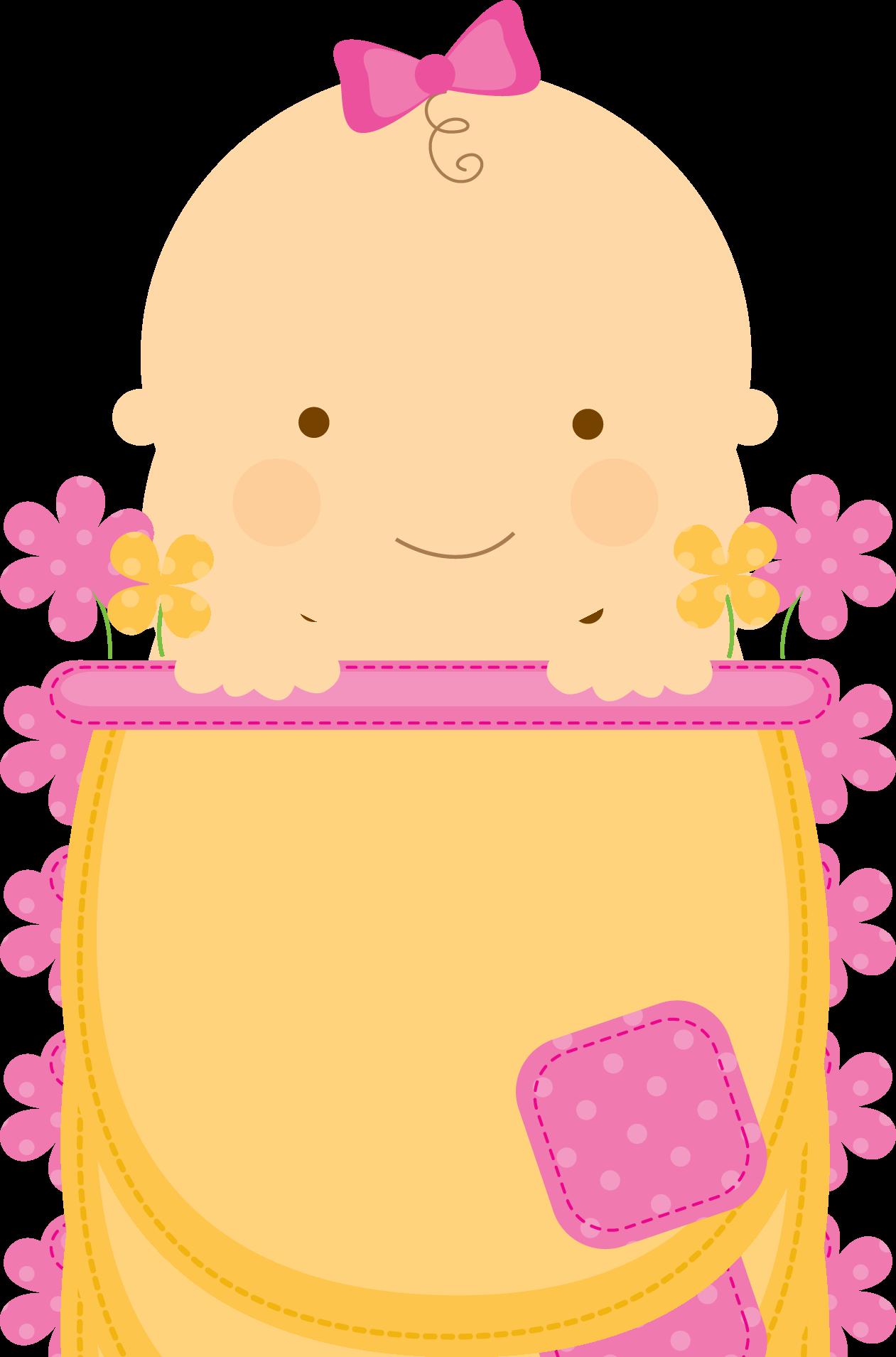 Baby Shower Girl Clipart ~ Flowerpot babies clipart babyinflowerpot pink yellow