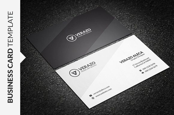 Modern minimalist business card business cards and card templates modern minimalist business card by verazo on creativemarket reheart Choice Image