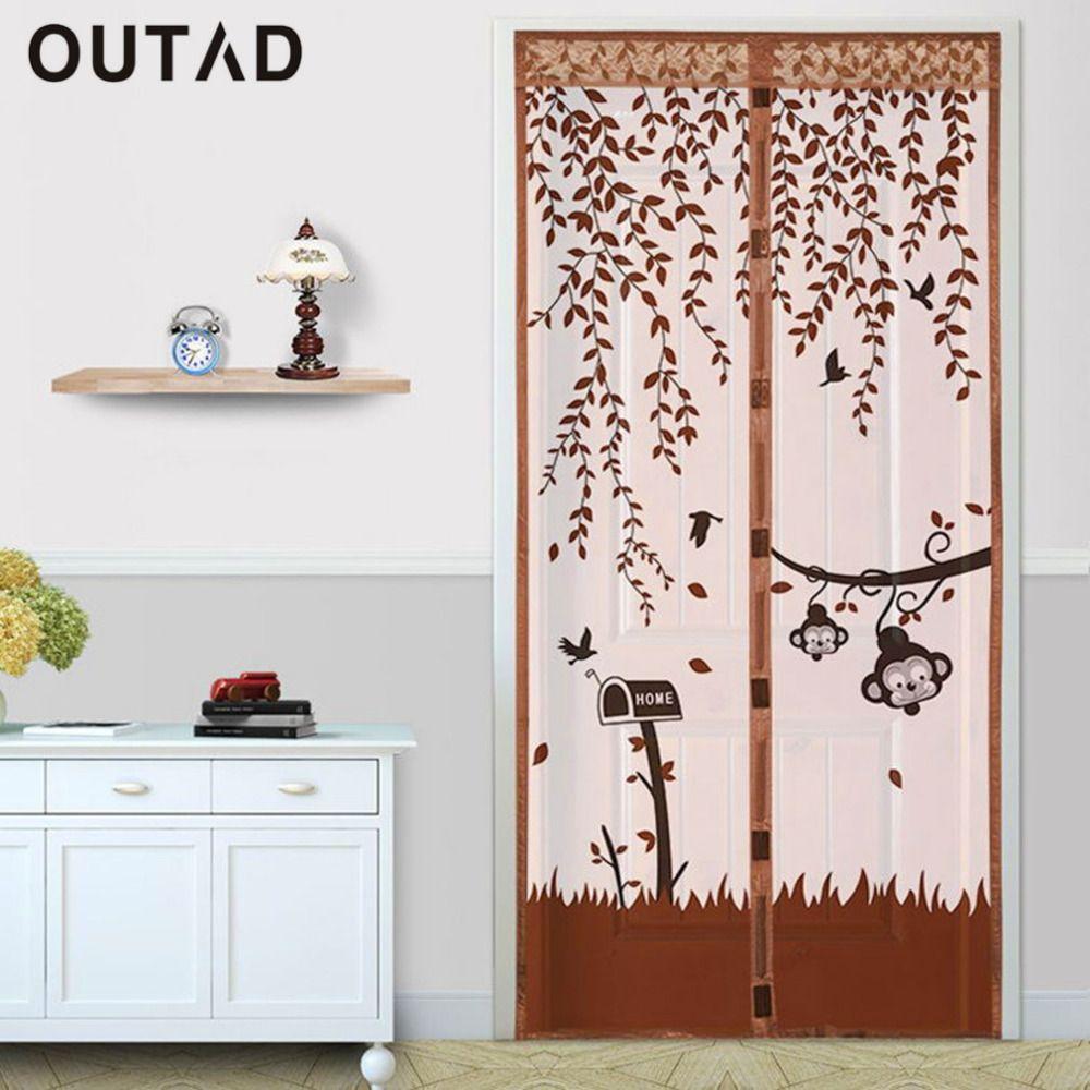 outad durable magnetic mesh screen door