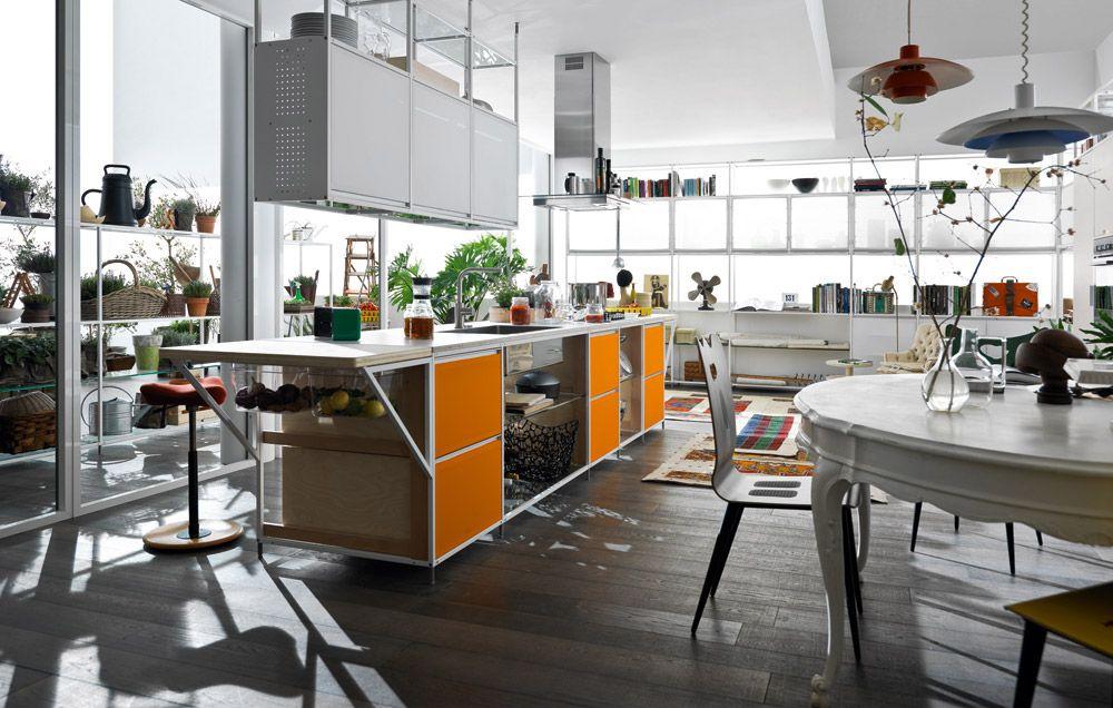 freistehende küchen küche meccanica [b] von valcucine
