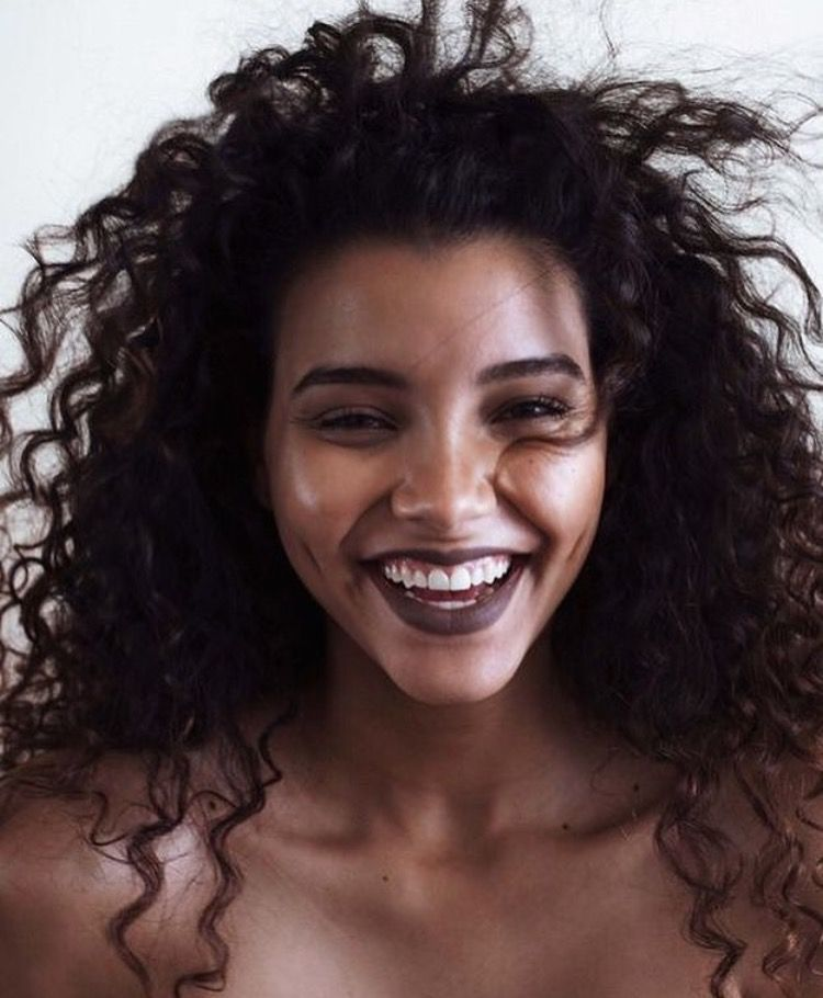 Dark Lipstick For Winter And Natural Curly Hair Natural