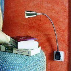 Photo of Skylight plug light Pluglight Flex Rio-Spot, chrome 40 cm, plug black-transparent Flexlight