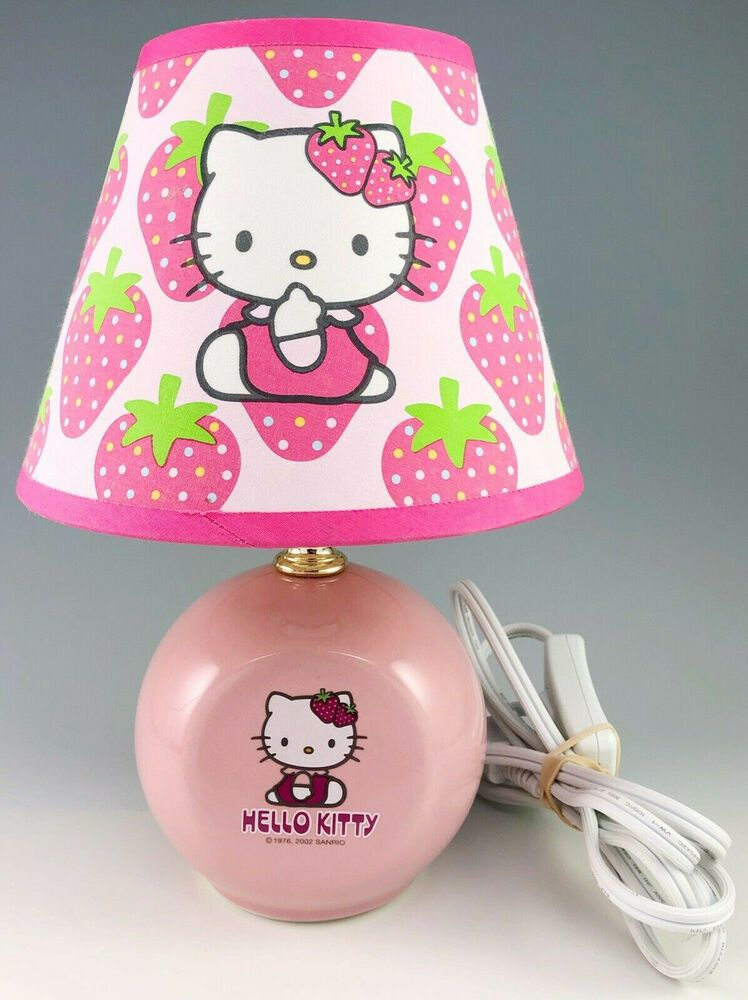 Hello Kitty Lamp Strawberry Bedside Table Child Japanese Anime