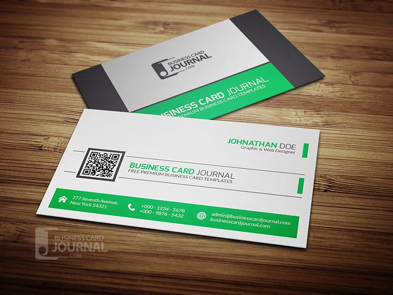 Refreshing green qr code business card template graphic design refreshing green qr code business card template reheart Image collections