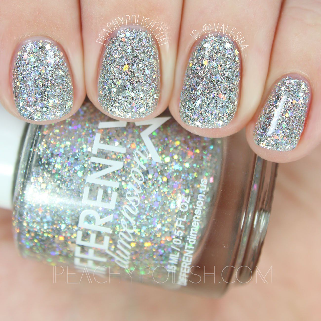 Different Dimension Glitter Bug | Let Them Eat Glitter: YWP Collab | Peachy Polish