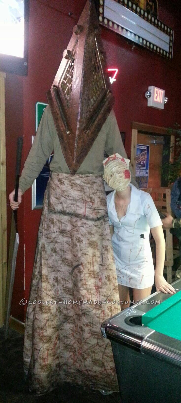 Creepy Homemade Silent Hill Couple Halloween Costume