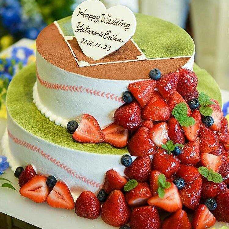Photo of 【IGで発見♡】野球をテーマにしたウェディングケーキをご紹介♡ | Dressy(ドレシー)byプラコレウェディング