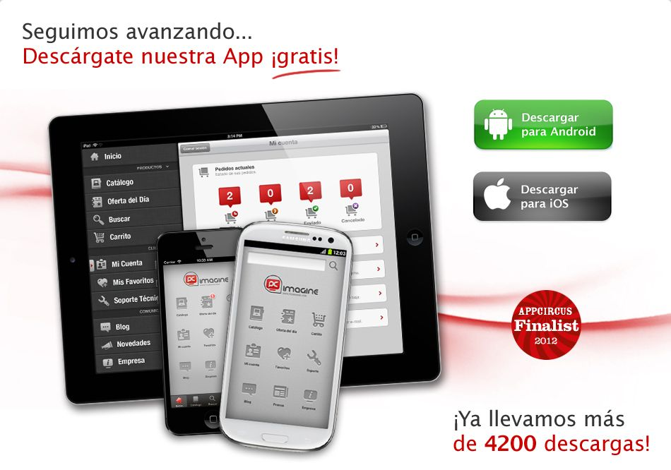 ¿Aún no te has descargado nuestra aplicación gratis para tu Android: https://play.google.com/store/apps/details?id=com.pcimagine.android o para tu iOS7: https://itunes.apple.com/es/app/pc-imagine/id543186646?mt=8 ? ¡Ya llevamos más de 4200 descargas! #app #aplicacion #android #iOS #aplication #aplicacionesgratis