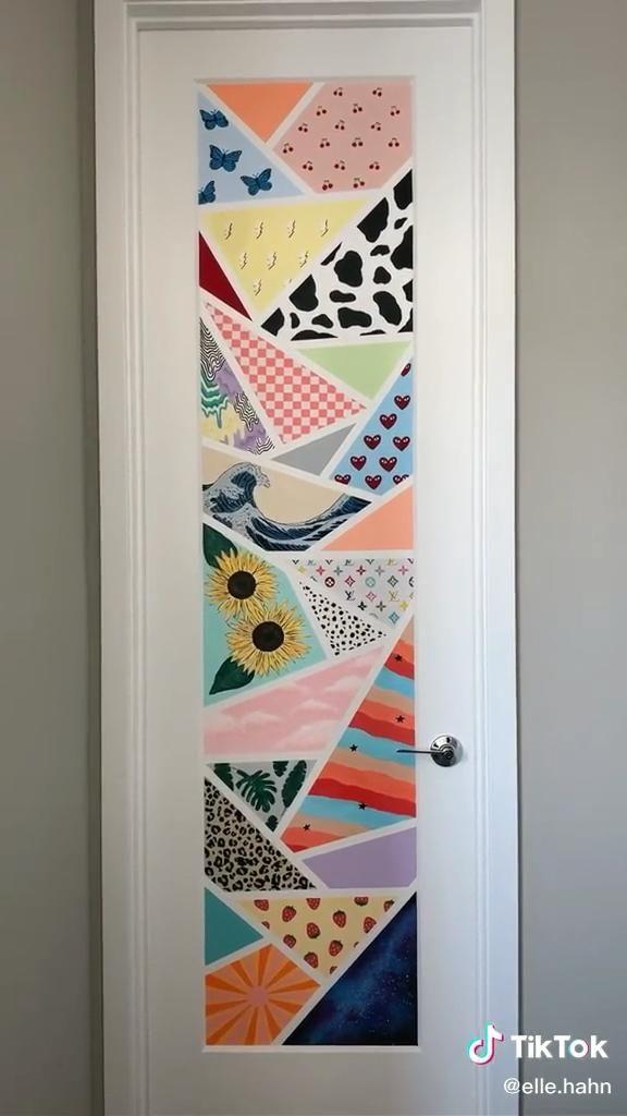 Door Painting Video Wall Painting Painted Bedroom Doors Cute Bedroom Decor