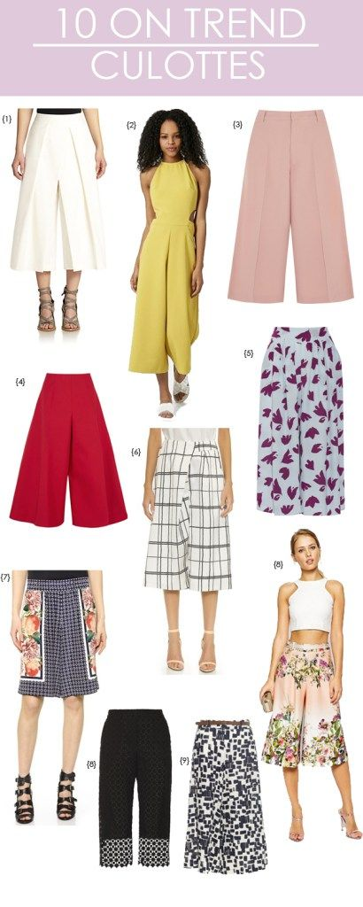 10 ON TREND CULOTTES