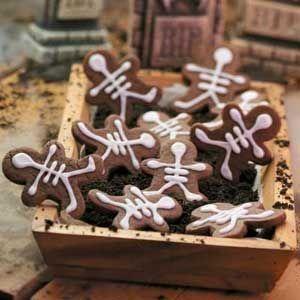 chocolate skeleton cookies - Halloween Gingerbread Cookies
