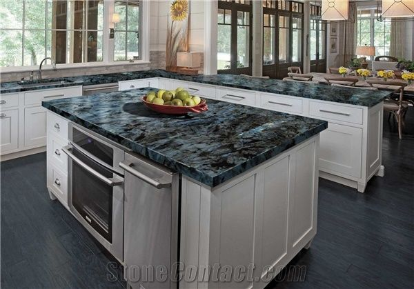 Lemurian Blue Granite Countertop From Italy Stonecontact